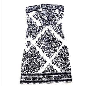 ♡ WHBM FLORAL STRAPLESS DRESS ♡